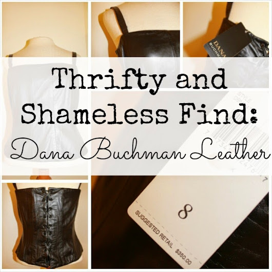 Thrifty and Shameless Find: Dana Buchman Leather