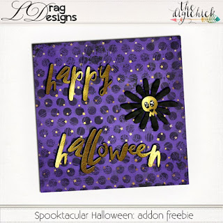Ginger Scraps October 2018 Color Challenge with Spooktacular Halloween by Ldrag Designs and Coordinating Freebie