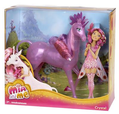 TOYS : JUGUETES - MIA AND ME : Mia y yo  Unicornio Cristal : Crystal   Figura - Muñeco  Producto Oficial Serie Television   Mattel CFF57   A partir de 3 años  Comprar en Amazon España