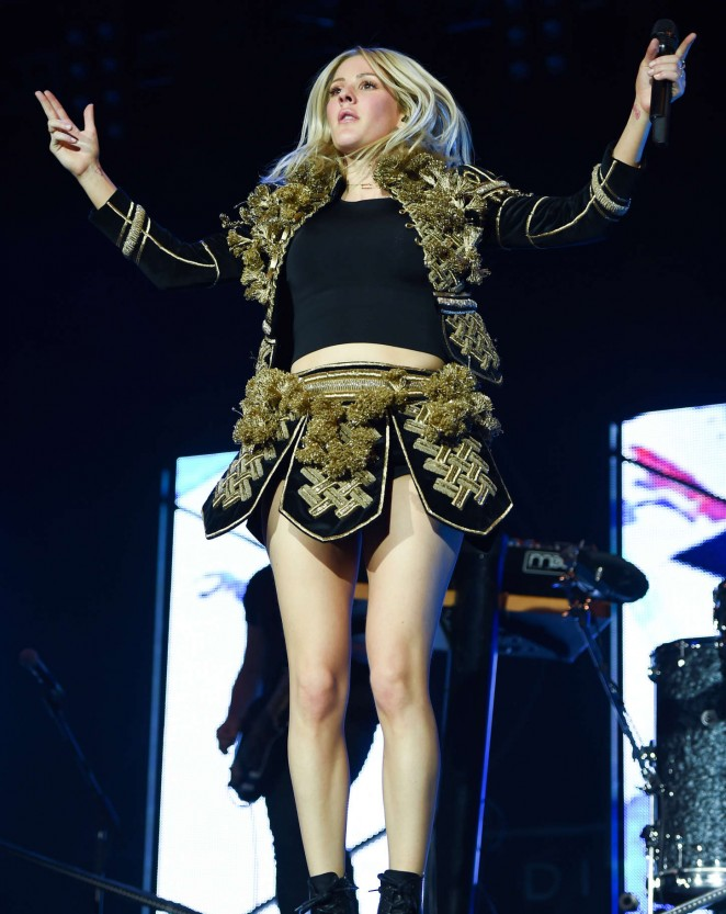 Singer Ellie Goulding Performs at the Gurten Festival