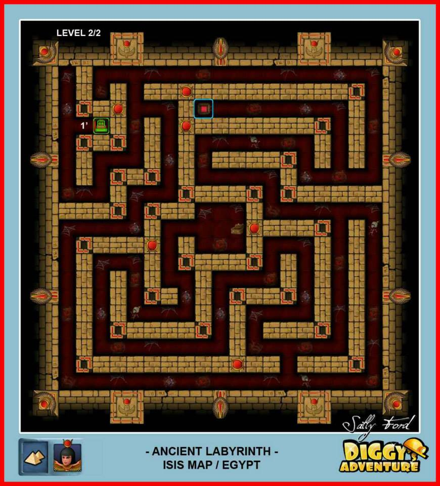 Diggy's Adventure Walkthrough: Egypt Isis / Ancient Labyrinth