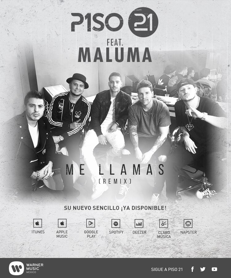 Juanes juntos for Piso 21 me llamas letra