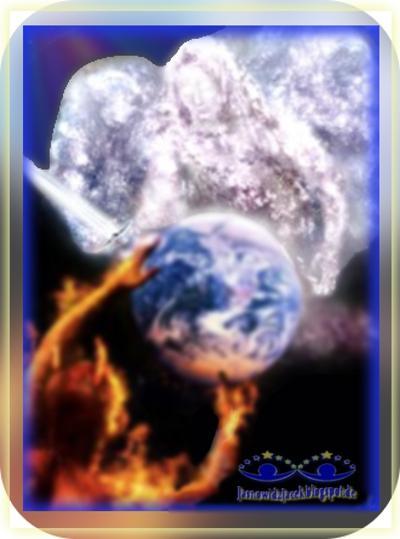 Miłość Strach-Świetlisty Anioł Demon-Dzień Noc-Niebo Piekło