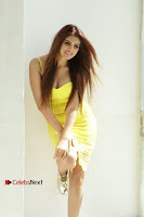 Actress Model Ihana Dhillon Poshoot Gallery in Yellow Lace Short Dress  0015.jpg