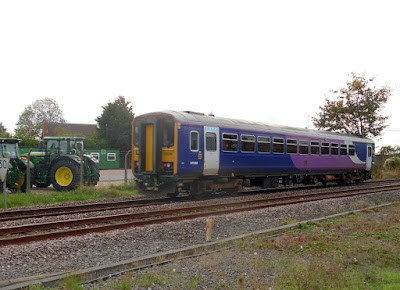 PICTURE: A train heading towards Brigg railway station in 2018 - used on Nigel Fisher's Brigg Blog
