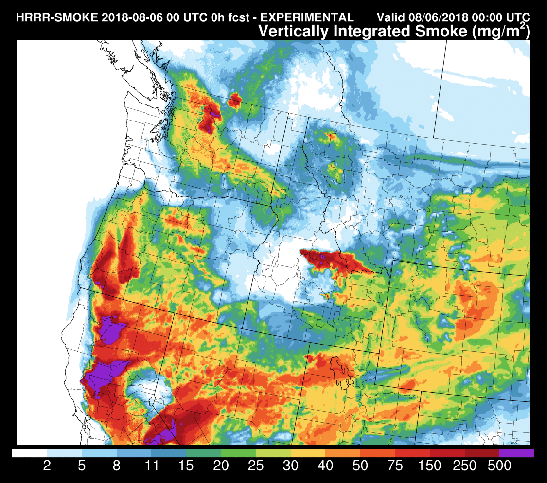 the situation worsens by 5 pm monday see below as massive amounts of california and sw oregon smoke pushes northward skies will get hazy and the sun