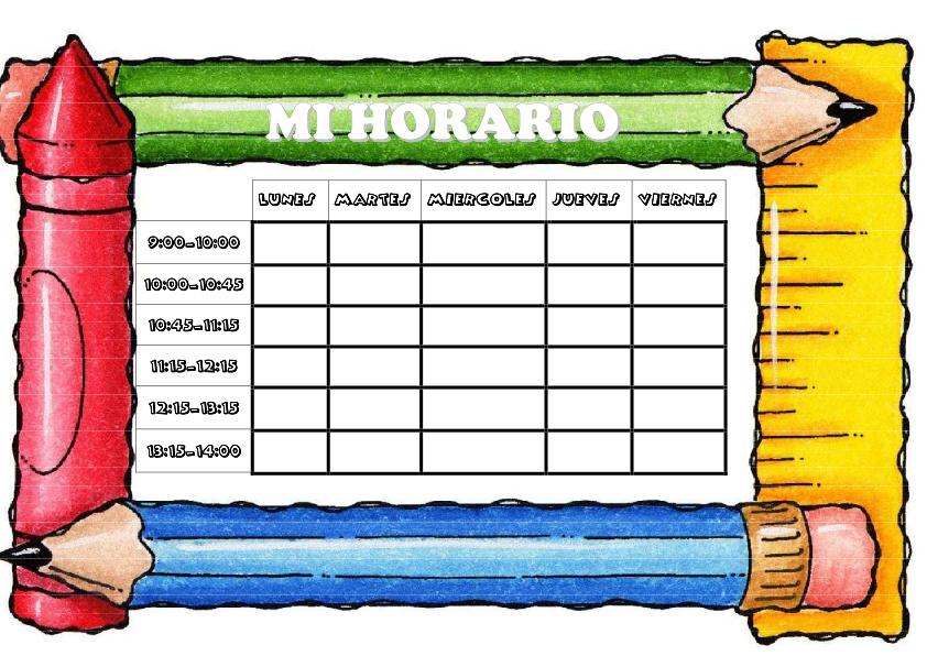 Cosillas de infantil horarios for Ecksofa 2 60 m