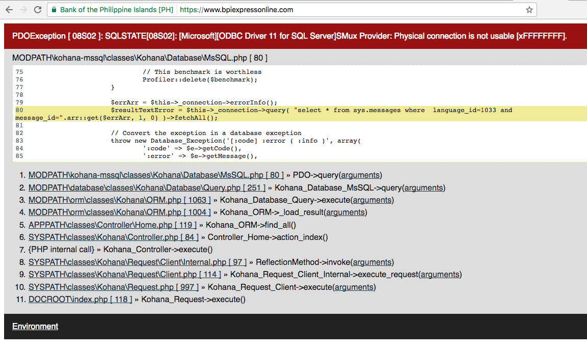 But Shouldn't The Bpi Team Be Cautious About This And Prevent This Kind Of  Sensitive Error Message To Be Published?