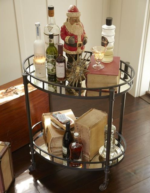 A Bar Cart Doesn T Have To Exclusively Serve Alcoholic Beverages They Can Be Pretty Focal Point In Your Home Whether You Re Entertaining Or Not