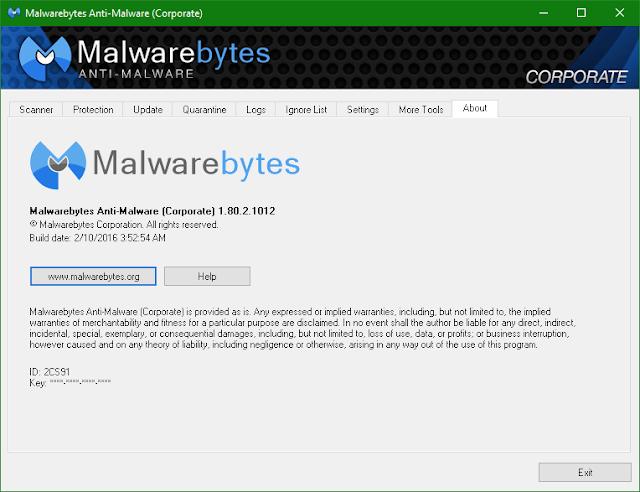 Malwarebytes Anti-Malware Corporate 1.80.2.1012 + Serial - Phần mềm loại bỏ quảng cáo, mã độc hiệu quả