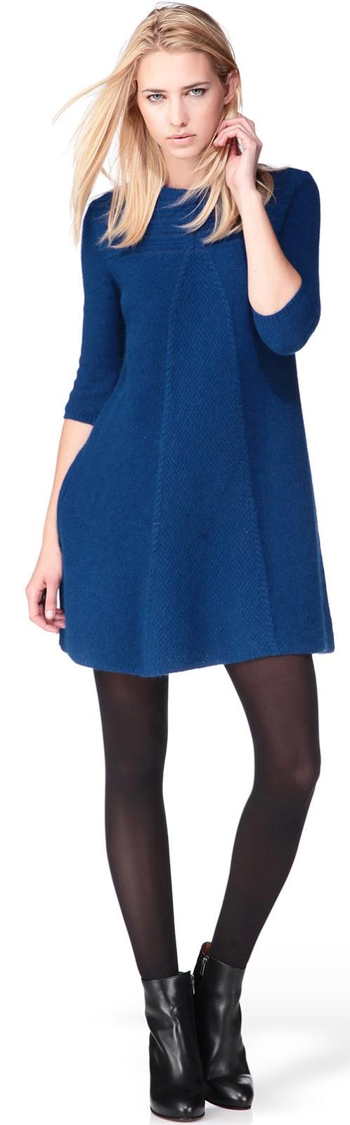 Robe courte pull bleue Ba&sh