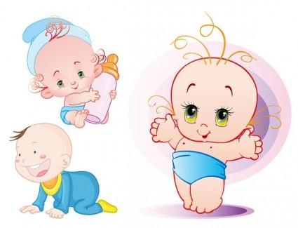 3 vectores de bebes
