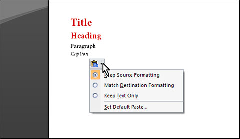 Keep source formatting in MS Word