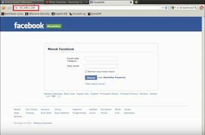 Cara bobol facebook dengan IP Publik Bactrack5