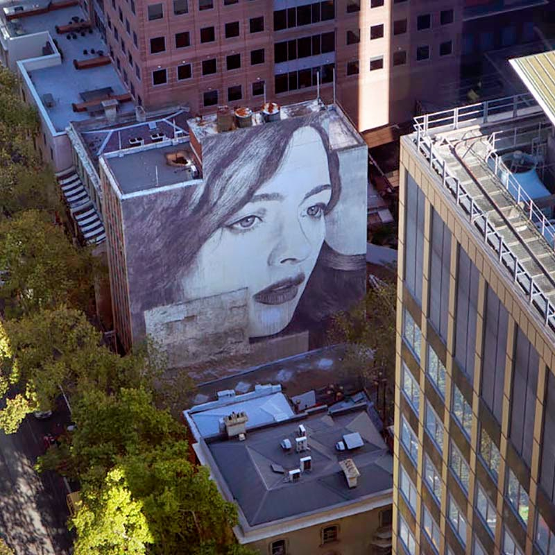 While we last heard from him last year in New Zealand (covered), RONE is back in Australia where he spent the last few days working on this massive new piece. 1