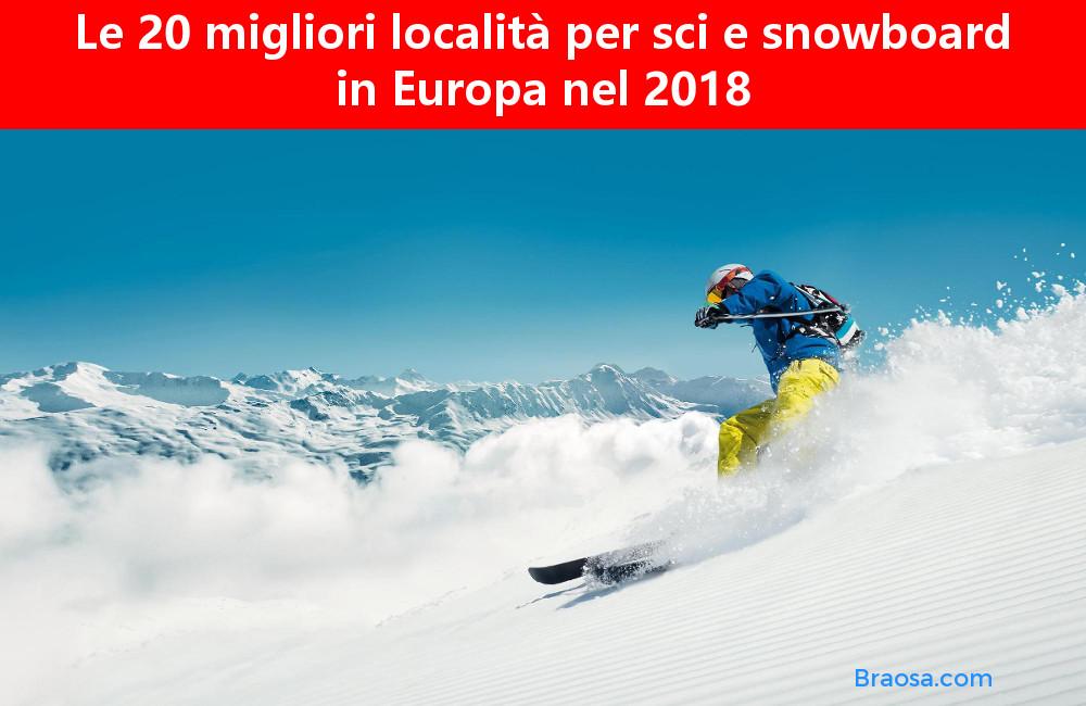 Le 20 migliori mete invernali per fare sci e snowboard in Europa nel 2018