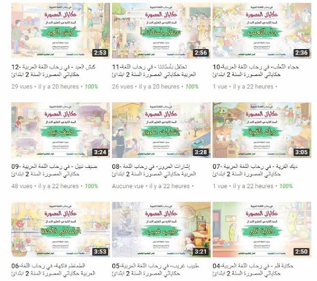 جميع الحكايات بجودة عالية لمرجع في رحاب اللغة العربية المستوى الثاني