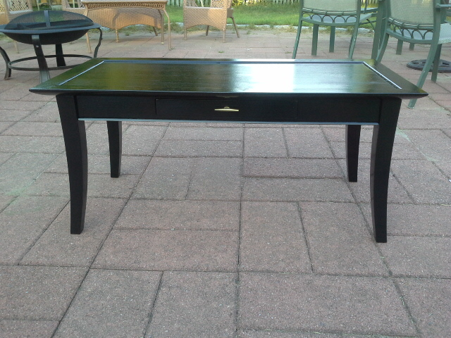 Mid Century Modern Glossy black coffee table