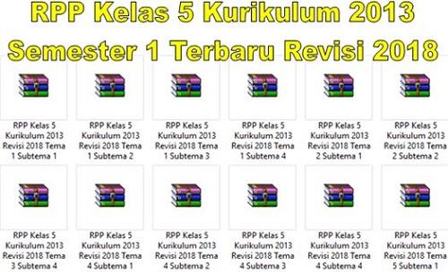 RPP Kelas 5 Kurikulum 2013 Semester 1 Terbaru Revisi 2018