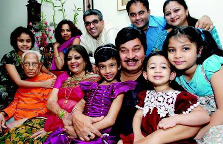 Srinath with family