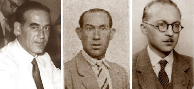 Los ajedrecistas Pedrol, Sola y Llorens