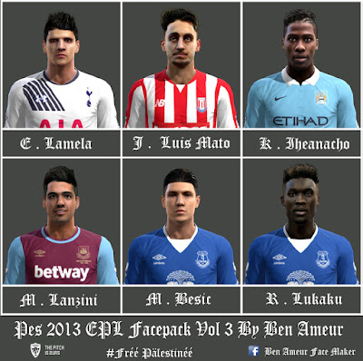 Pes 2013 EPL Facepack Vol 3 By Ben Ameur
