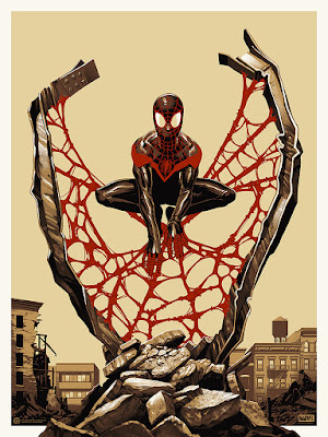 Spider-Man: Miles Morales Variant Screen Print by Phantom City Creative x Mondo