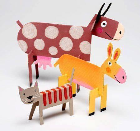 Ide membuat kerajinan berbentuk hewan menggunakan  kertas untuk anak-anak