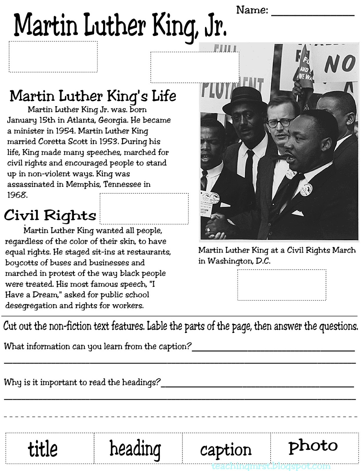 Teaching Mrs T Assessments Goals And Mlk Oh My