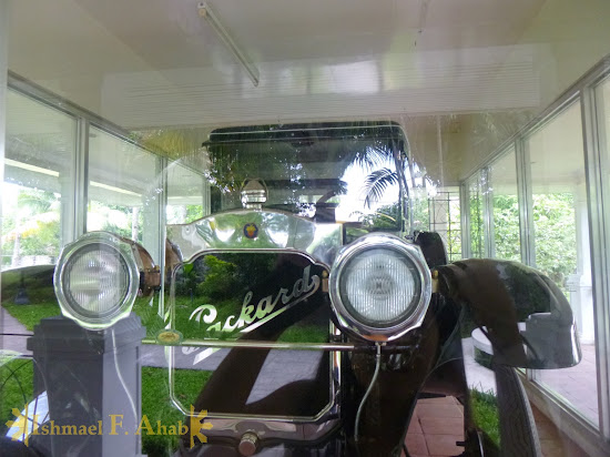 Vintage car used by President Emilio Aguinaldo on display at the Aguinaldo Shrine
