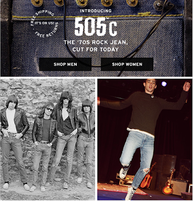 Introducing 505C, The '70s Rock Jean, Cut For Today