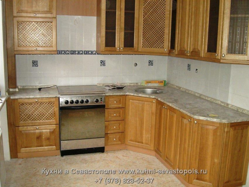 Кухня массив шпон распродажа образцов Севастополь