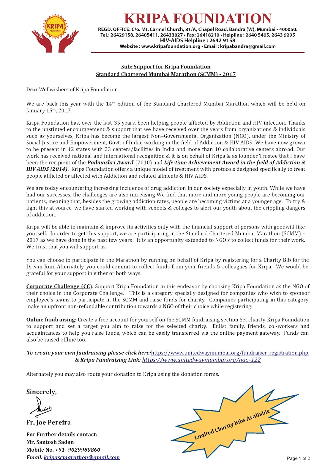 100 Charity Appeal Letter Direct Mail Fundraising