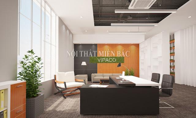Thiết kế nội thất phòng giám đốc phong cách trẻ, hiện đại - H1