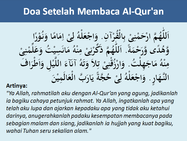 Citaten Quran Beserta Artinya : Bacaan doa sebelum dan sesudah membaca al qur an lengkap