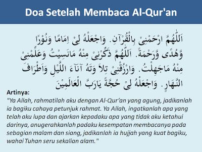 Doa setelah membaca Al-Qur'an