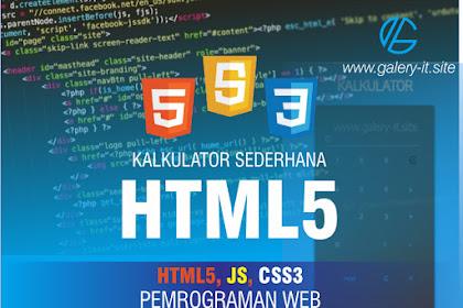 Software Kalkulator Sederhana Menggunakan HTML5 dan CSS