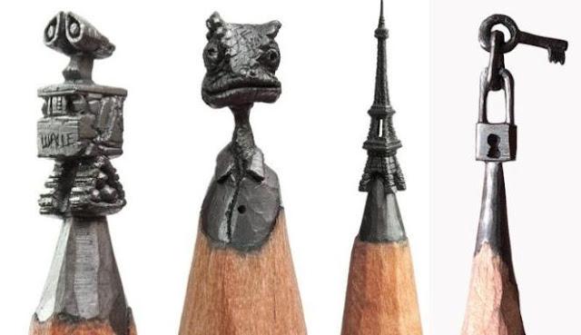 Keren!!! Patung mini dari ujung Pensil ini pasti membuat kalian terkagum-kagum