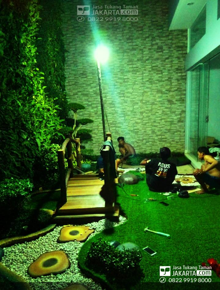 konsep taman indoor - konsep taman belakang rumah