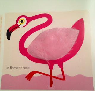 Mon imagier des couleurs à toucher - le flamant rose - Editions MILAN
