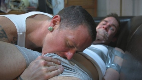 Max Cameron, Cameron Kincade – Hot Muscular Convict Torments His Duct-Taped Captive