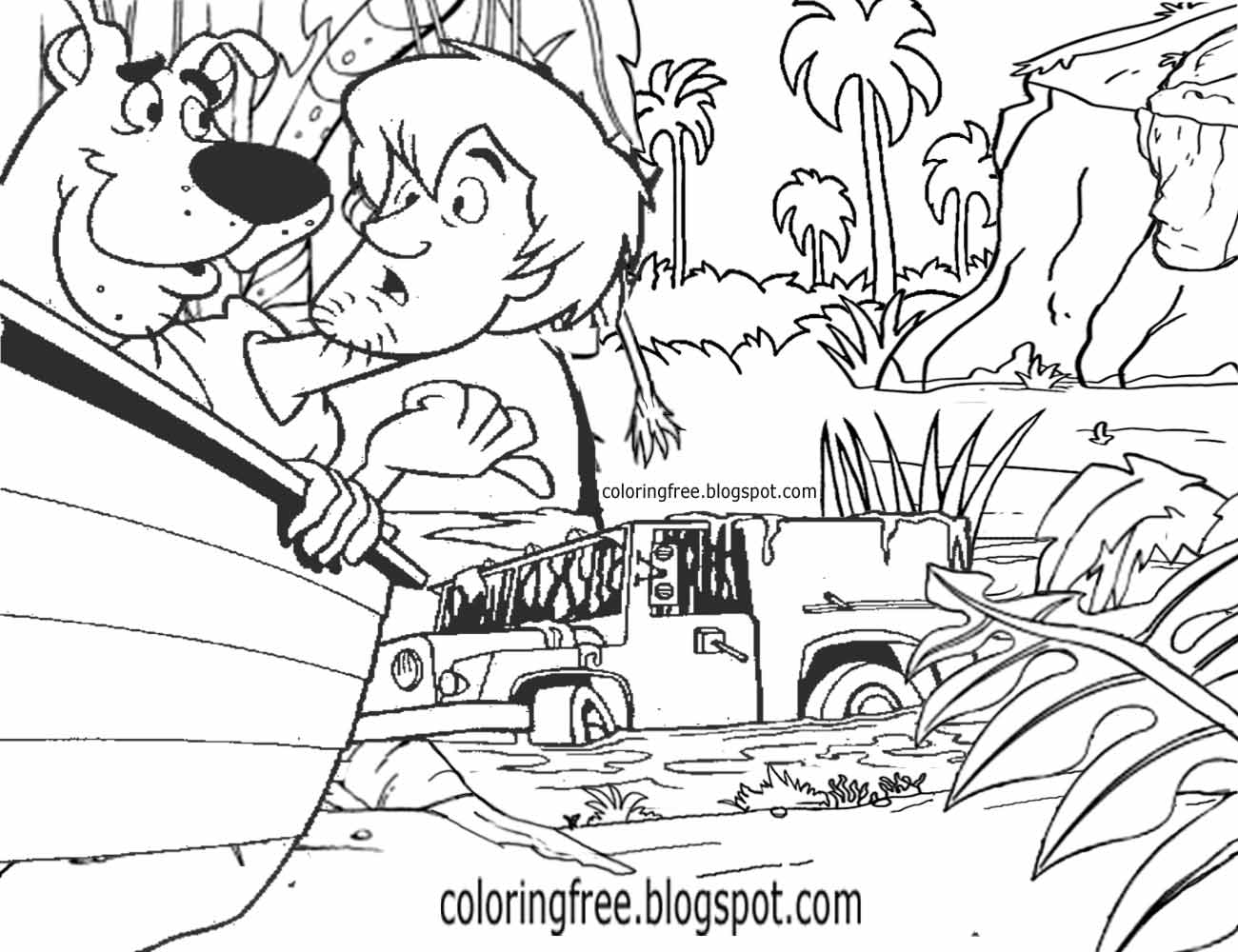 Bleak Quagmire Shaggy Scooby Doo Drawing Swap Monster Coloring Book Pages Haunted Ghostly Marshland