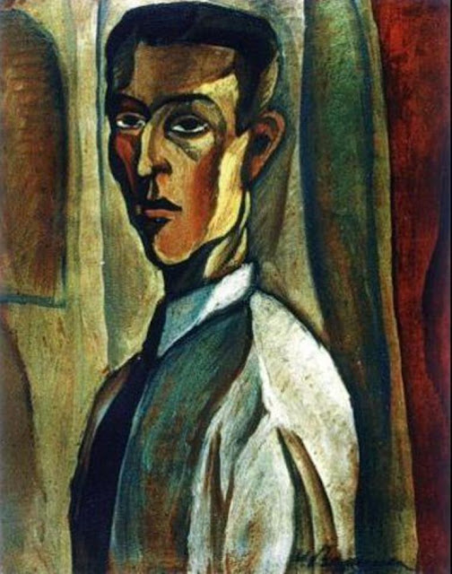 Victor Brauner, Self Portrait, Portraits of Painters, Fine arts, Portraits of painters blog, Paintings of Victor Brauner, Painter Victor Brauner