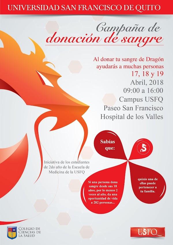 Campaña de Donación de Sangre en la USFQ