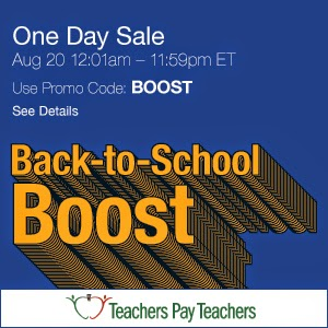 TPT Back To School Boost Sale!