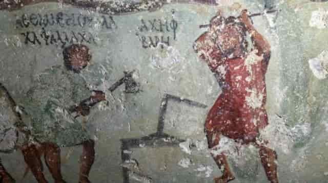 Ανακάλυψαν μια αρχαία μορφή κόμικ σε τάφο στην Ιορδανία