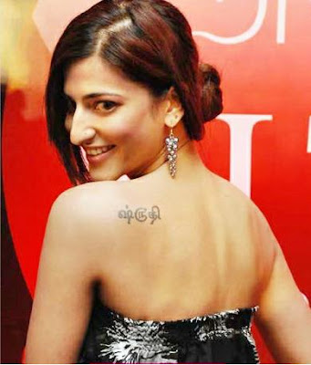 Shruthi-Hassan-tattoo