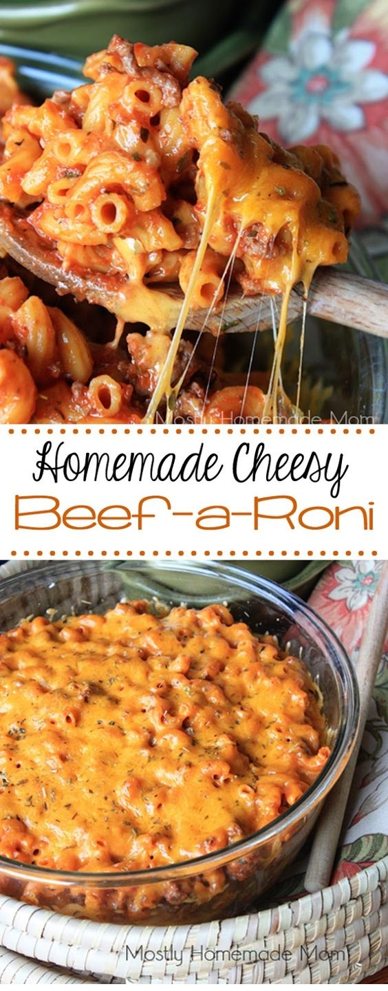 Homemade Cheesy Beef-A-Roni