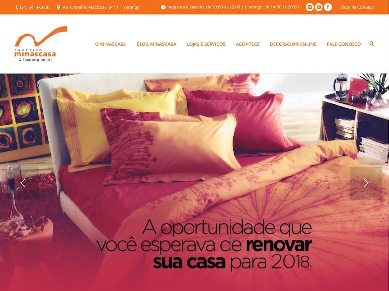 Shopping Minascasa investe na reformulação do site para ficar mais atrativo para o público