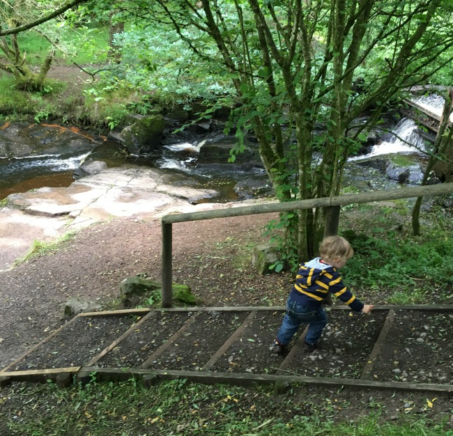 Garwnant-Visitor-Centre-A-Toddler-Explores-streams-and-waterfalls-too